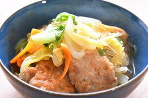 白菜と鶏肉団子のうま煮