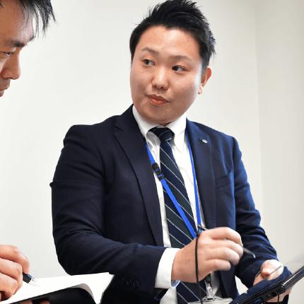 渉外担当 田中 直登 2016年入組