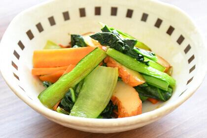 小松菜の塩こうじ炒め